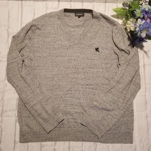 Express Sweater XL Gray V-Neck Pullover